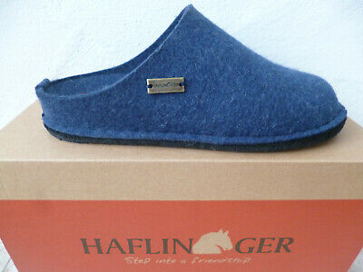 Haflinger Ladies Slippers House Shoes Mules Blue New • 57.64£