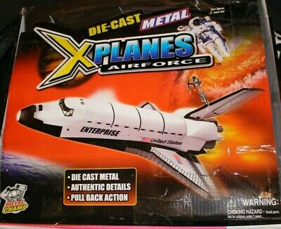7 1/2  Space Shuttle NASA Replica Diecast Toy Model Pull Back And Go Action • 5.52£