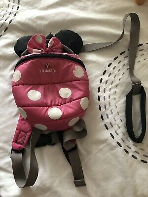 LittleLife Little Life Minnie Mouse Toddler Backpack With Reins / Parent Handle • 8£