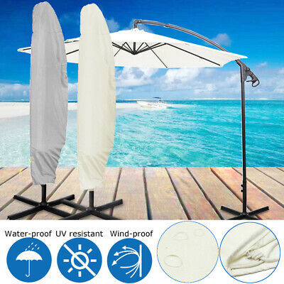 265x81cm Waterproof Garden Parasol Banana Umbrella Patio Cover Outdoor Protector • 14.05£