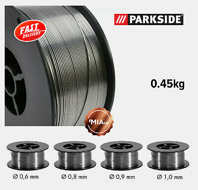 $16.54 • Buy Gasless Welding Wire Flux Cored 0.6/0.8/0.9/1.0mm 0.45kg For Parkside/Mauk/Deca