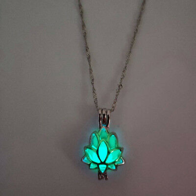 $ CDN1.26 • Buy Lotus Flower Chain Necklace Buddhism Accessory Flower Shaped Prayer Luminous SH
