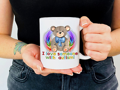 Personalised I Love Someone With Autism Mug  • 6.95£