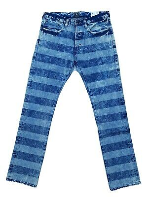 PRPS Goods & Co. Demon Slim Fit Striped Denim Jeans Size 32x34 Sample • 70.81£