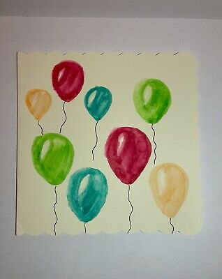 £2.50 • Buy Hand Painted Watercolour Birthday Card - Original (not A Print)