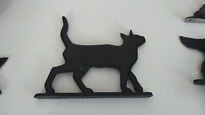 $43.95 • Buy Mailbox Topper / Ornament,CAT STANDING Solid Aluminum Painted Black AS SHOWN
