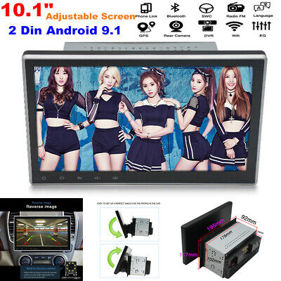 $221.99 • Buy 10.1  2 Din Car Radio Android 9.1 Stereo GPS Navigation WiFi Player Up-Down Tune