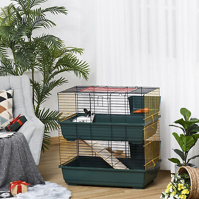 £68.99 • Buy 2-Story Large Small Animal Cage W/ Accessories For Chinchillas Puppy Guinea Pig