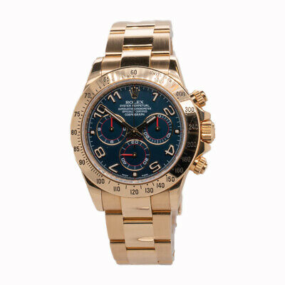 $ CDN52737.30 • Buy Rolex Daytona - 116528 - Yellow Gold, Racing Blue Dial, B & P