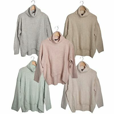£14.95 • Buy Ex New Look Womens Slouchy Reverse Knit Polo Neck Jumper Pastel Colours