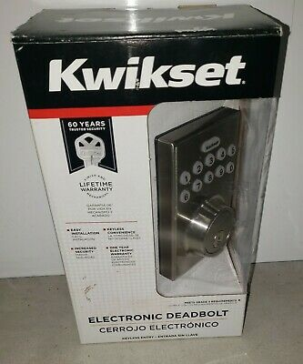 $ CDN53.17 • Buy Kwikset Electronic Deadbolt Smartcode 92640-003 Nickel Finish NIB