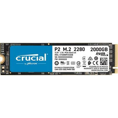 AU389 • Buy 2TB Crucial P2 SSD M.2 2280 PCIe NVMe NAND Internal Solid State Drive 2300MB/s