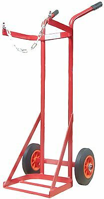£74.99 • Buy Solid Tyre Single Propane Cylinder Gas Trolley Full Size
