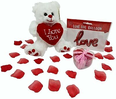 AU23.43 • Buy VALENTINES DAY GIFT For Her Him Present Plush Teddy Balloon Red Rose Soaps