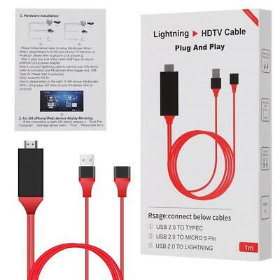 $ CDN22.14 • Buy 1m Phone To TV 1080p Universal HDMI HDTV AV Adapter Cable For Phone&Tablet