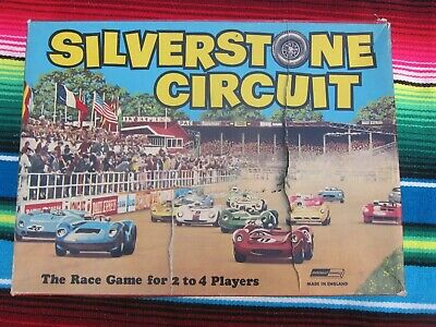 £12 • Buy Vtg Motor Racing Game Silverstone Circuit 1960s Marchant Retro Old Board 60s