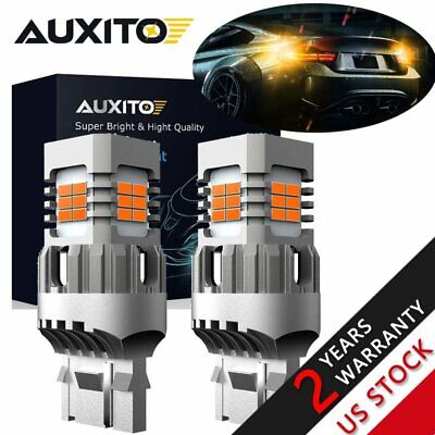 $25.32 • Buy CANBUS Error Free 7443 7444 7440 LED Amber Turn Signal Parking DRL Light Bulbs A