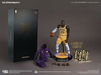 $360 • Buy NBA Coll. Real Masterpiece LeBron James 1:6 Scale Figure EnterBay (sold Out)