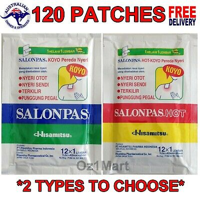 AU23.90 • Buy 120 Patches Salonpas Pain Relief Hisamitsu Patch Muscle Pain Relieving
