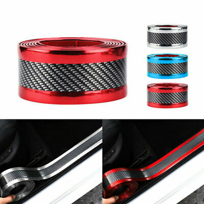 $5.60 • Buy 1Roll Carbon Fiber Car Door Sill Scuff Cover Step Protector Sticker Strip Tape