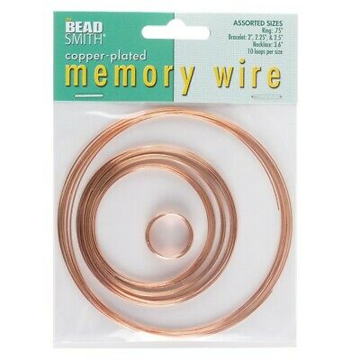 £4.59 • Buy Beadsmith Memory Wire Copper Plated 10 Loops 5 Sizes
