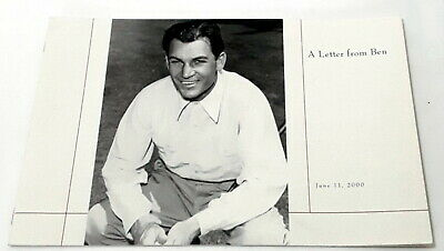 Ben Hogan Letter From Ben To Merion Golf Club Book Rare The Hawk Talks 2 For 1 • 6.40£
