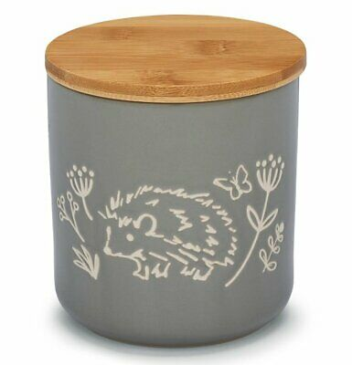 £9.95 • Buy GREY Hedgehog COUNTRY ANIMALS FOOD STORAGE CANISTER Ceramic Jar With Lid