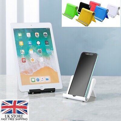 Foldable IPad Tablet IPhone Desk Stand Mobile Phone Portable Strong Holder • 2.49£