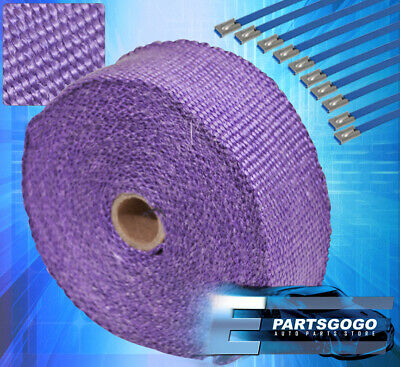 $19.99 • Buy 30Ft X 2  X1.5mm Aluminum Heat Wrap Cover Exhaust Piping Catback Header Purple