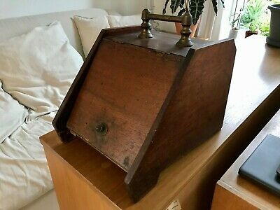 Antique/Vintage Wooden Coal Scuttle Log Box For Fire / Fireplace Perry Son & Co • 70£