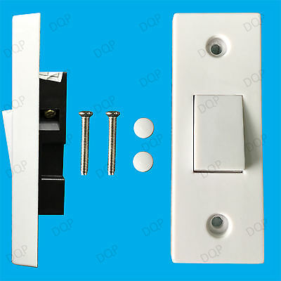 £3.46 • Buy 1 Gang 1 Way 10A White Architrave Light Rocker Wall Switch, BS60669-1 Compliant