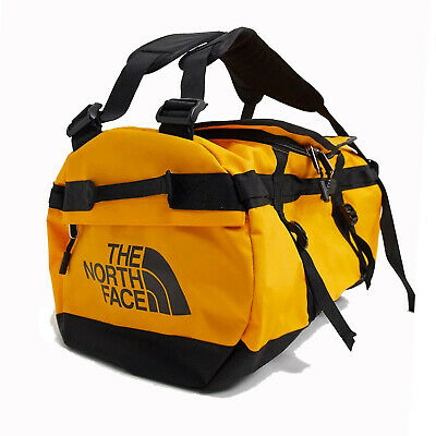 The North Face Mens - Base Camp Duffel SMALL Bag Backpack - Summit Gold / Black • 86.82£