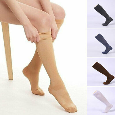 £4 • Buy Knee High Graduated Compression Socks Support Men Women Exercise Recovery