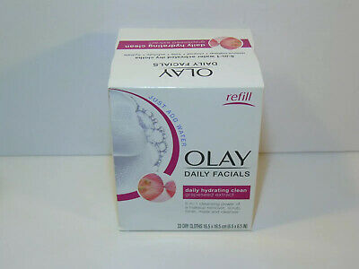 AU15.46 • Buy Olay Daily Facials 5-in-1 Hydrating Clean Grapeseed Extract 33 Ct Dry Cloths New
