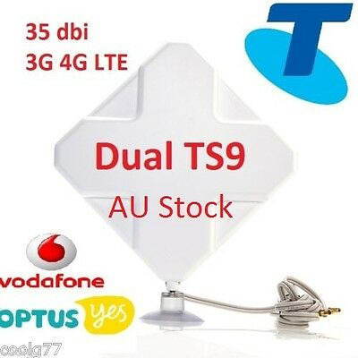 AU69.50 • Buy ANTENNA For OPTUS HUAWEI B818 4G WiFi  MODEM MOBILE HOTSPOT BOOSTER 35dBi 2xTS9