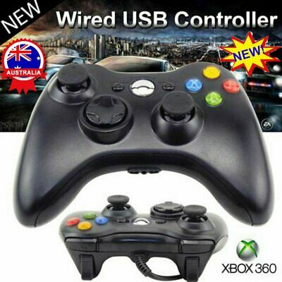 AU22.83 • Buy New Black Wired Controller For Xbox 360 Console USB Windows/PC AU STOCK OD