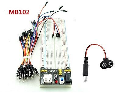 Basic Electronics Kit Power Module + Breadboard + 65 Jumper Wires Kit + DC Jack • 4.25£