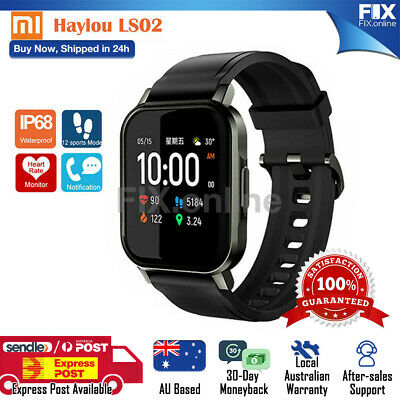 AU58.46 • Buy Haylou LS02 Smart Watch IP68 Waterproof Heart Rate Monitor For Xiaomi Samsung