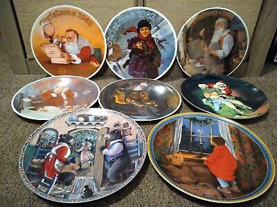 $ CDN66.72 • Buy  NORMAN ROCKWELL 1981-95  Christmas LIMITED EDITION Plates Set Of 8