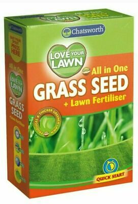 £9.99 • Buy 2 X All In One Lawn Patching Garden Grass Seed & Fertiliser Quick Growth Grass