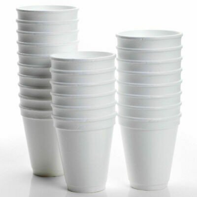 200 X Disposable Foam Cups Polystyrene Coffee Tea Cups For Hot Drinks 10oz • 10.95£
