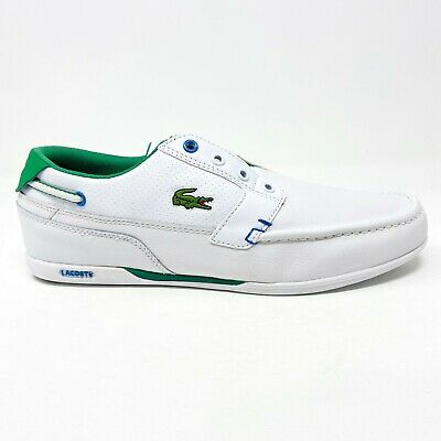 Lacoste Dreyfus Slip On White Green Leather Synthetic Mens Casual Shoes • 56.71£