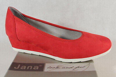 Jana Soft Line Women's Pumps Slippers Ballerina Low Shoes Red Width H New • 49.49£