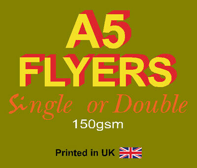 £67.99 • Buy A5 Flyers Leaflets Printed Full Colour 150gsm Silk - A5 Flyer Printing
