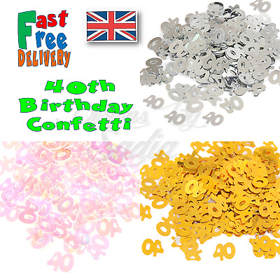 £1.65 • Buy 40th Age Birthday Confetti Scatter Table Party Celebration