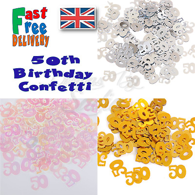 50th Age Birthday Confetti  Scatter Table Party Celebration Decoration  • 1.65£