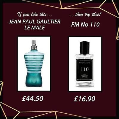 FM 110 Pure Collection Federico Mahora Fragrance For Men 50ml • 16.90£