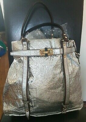 100% Genuine Lanvin Metallic Kentucky Tote Bag • 200£