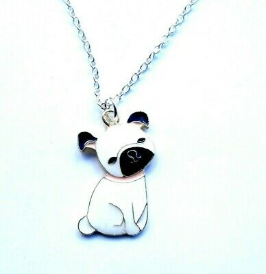 £3.99 • Buy Cute Pug Dog Puppy Charm Pendant Necklace 16  Silver Plated Chain In Gift Bag