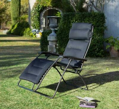 Lafuma Mobilier Premium Padded Recliner Chair RSX Clip Air Comfort Outdoor • 184.99£